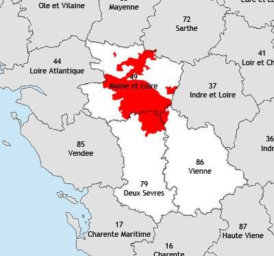 Carte des vins Anjou-Saumur